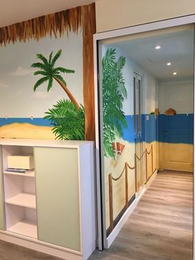 Private Home Beach Side Mural