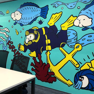 """SCMP - """"Quarry Bay"""" Conference Room Mural"""