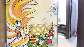 Private Home Anime Mural Project