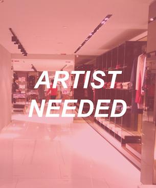 Set design | Fashion store x Artist - CLOSED