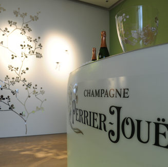 Perrier-Jouët's Enchanted Garden - Wall Relief and Invitation card