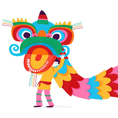 Happy New Year 舞獅 Lion Dance