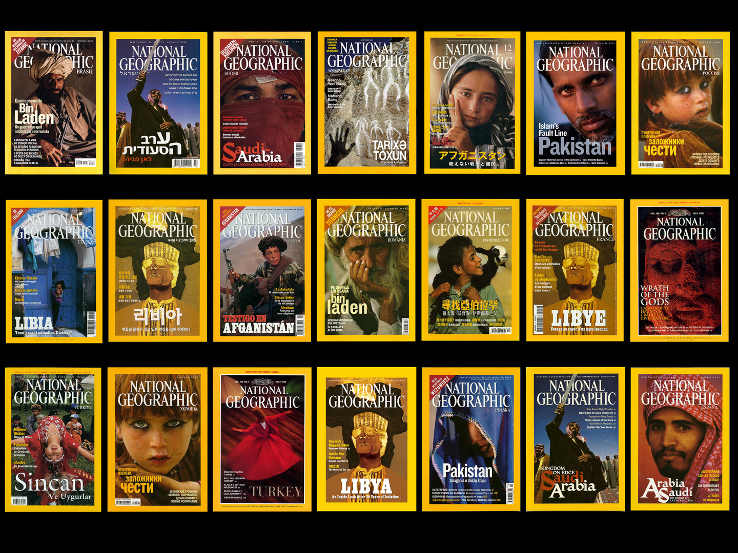 National Geographic Covers by Reza