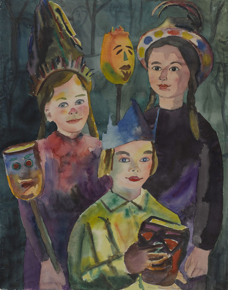 Children With Lighted Beets