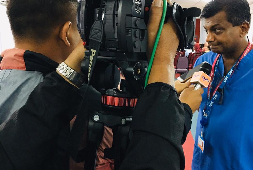 Ram being interviewed.JPG
