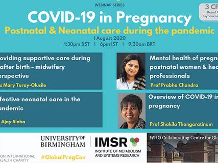 Webinar: Postnatal and neonatal care during the pandemic