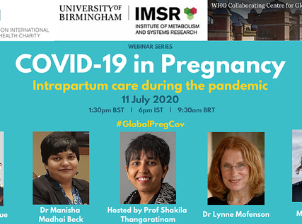 Webinar: Intrapartum care during the pandemic