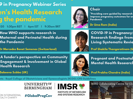 Webinar: Women's Health Research during the pandemic