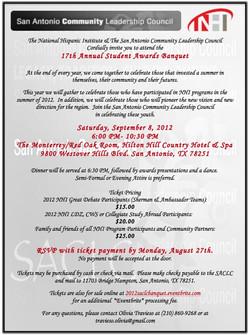 2012 Banquet Invitation