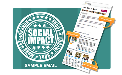 Engage volunteers and staff with our Instant Community tool that allows volunteers to share information about their favorite nonprofits.