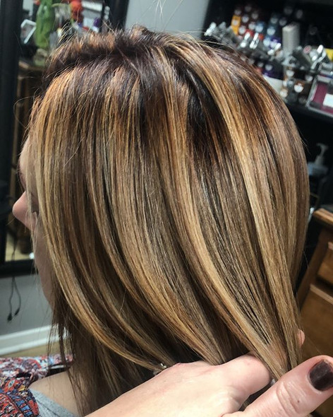 Brazilian Blowout following an all over color, painted in pieces for a color melt effect and shine you can't get from anywhere else using _p