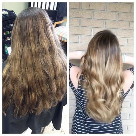 One of today's favorite transformation's on this beautiful client! Three hours with _magnoliastylist will give you months of #hairgoals who_