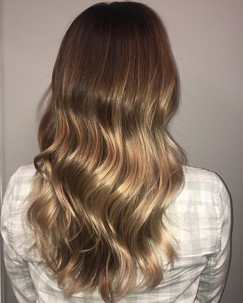 Shadow root with painted balayage is so pretty and gives you a flawless grow out.jpg