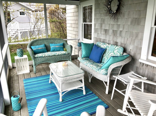 Ships Wheel Screened-in Porch