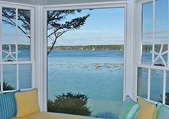 View of Linekin Bay from the living room at  Seaglass Cottage