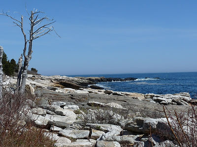 Ocean Point, East Boothbay rocky coast