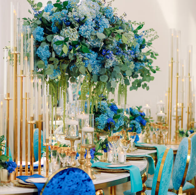 Ombre Opulence - Shades of Blue