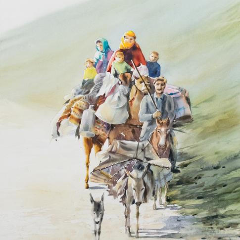 Size: 50 x 70 cm  Technique: Watercolour
