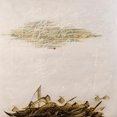 Size: 100 x 100 cm  Technique: Acrylic & Oil on Canvas