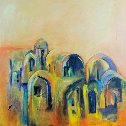 Size: 80 x 80 cm Technique: Acrylic on Canvas