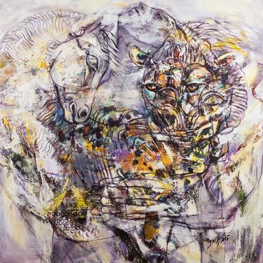 Size: 100 x 100 cm  Technique: Acrylic On canvas