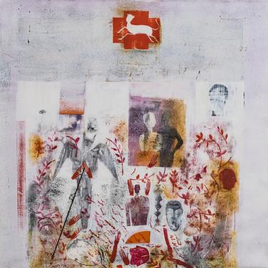 Size: 50 x 50 cm  Technique: Acrylic on Canvas