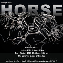 Horse Painting Exhibition 2021 Poster