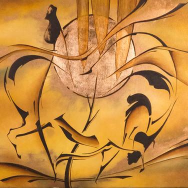 Size: 50 x 70 cm  Technique: Oil on Canvas