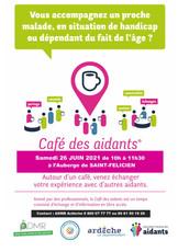Affiche Café des Aidants St félicien 202