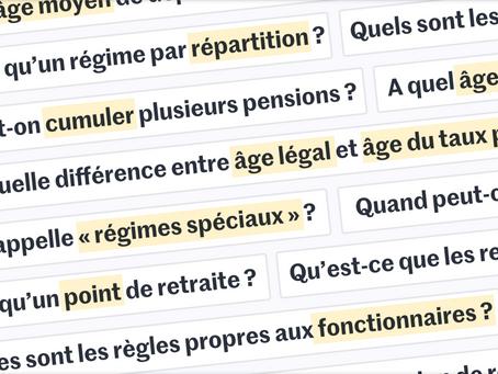 Reforme des retraites -un article du Monde fait le point sur les principaux points de la reforme