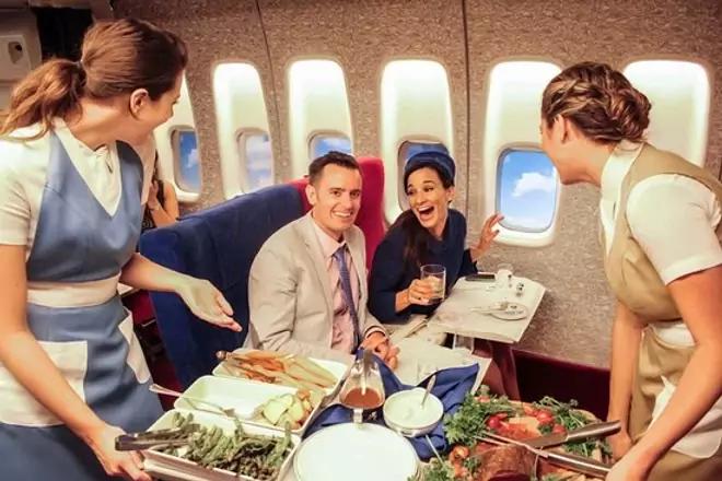 interior avion privado