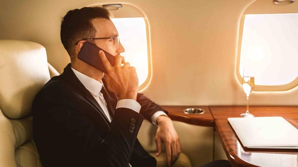 en vuelo charter privado
