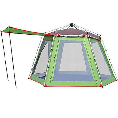 Hewolf 8 person Family Tent Outdoor Windproof Rain Waterproof Wearable Double La