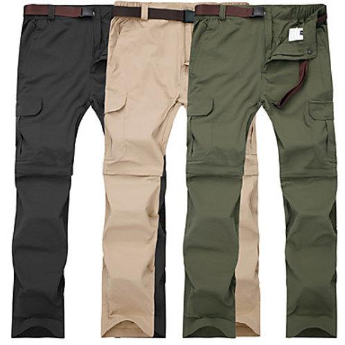 Men's Hiking Pants Convertible Pants / Zip Off Pants Outdoor Waterproof Breathab