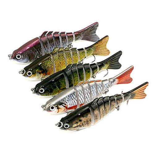 5 pcs Jerkbaits Minnow Sinking Bass Trout Pike Sea Fishing Spinning Bass Fishing