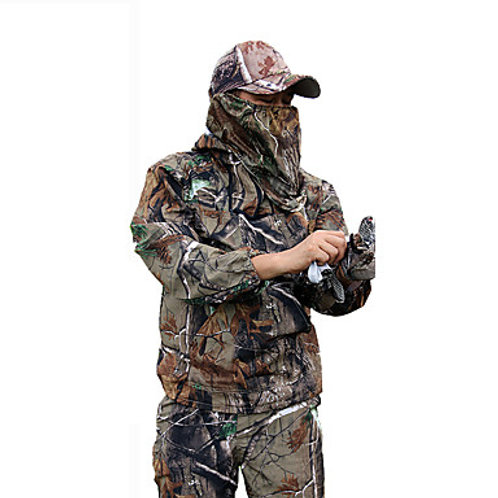 Men's Hunting Jacket with Pants Outdoor Waterproof Windproof Breathable Warm Spr