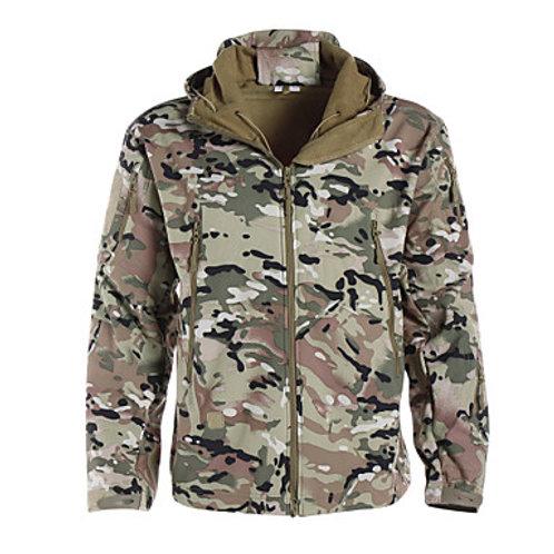 Men's Camouflage Hunting Jacket Outdoor Thermal / Warm Waterproof Windproof Brea