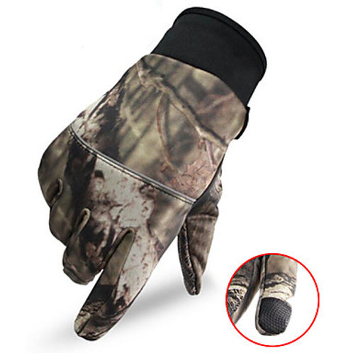 Men's Camo Hunting Gloves Thermal / Warm Touch Screen Wear Resistance Camo / Cam