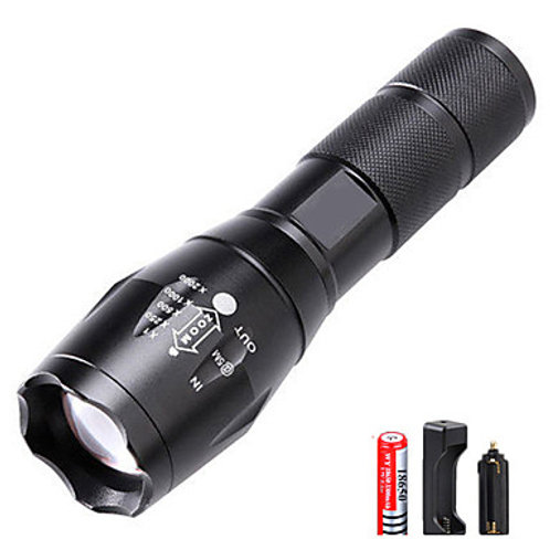LED Flashlights / Torch Waterproof Rechargeable 3000 lm LED Emitters 5 Mode with