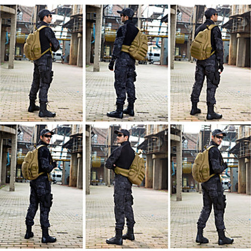 30 L Hiking Sling Backpack Military Tactical Backpack Rain Waterproof Quick Dry