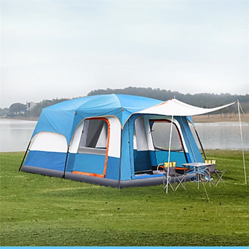 TANXIANZHE® 10 person Cabin Tent Family Tent Outdoor Windproof UV Resistant Rain
