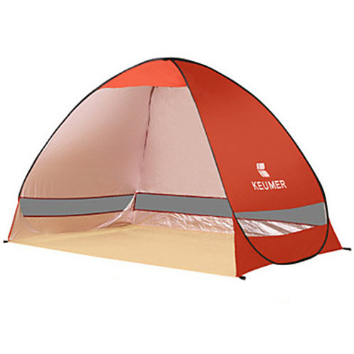 KEUMER 2 person Beach Tent Outdoor Rain Waterproof Dust Proof Single Layered Cam