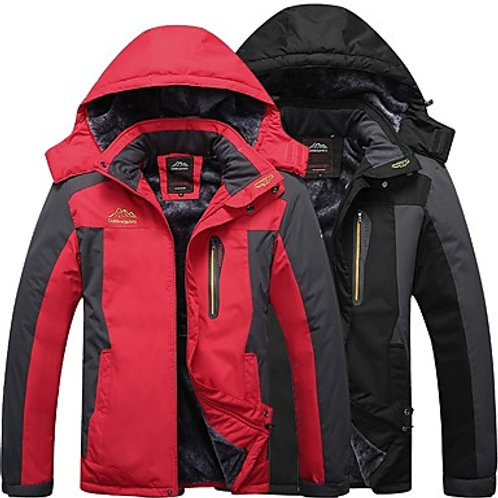 Men's Hiking Jacket Winter Outdoor Thermal / Warm Windproof Breathable Rain Wate