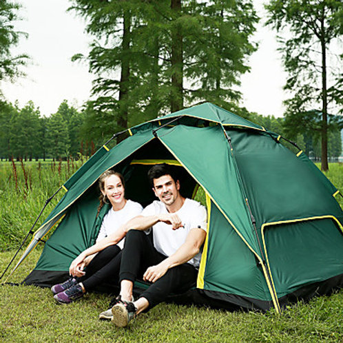 BSwolf 3 person Automatic Tent Outdoor Windproof Rain Waterproof Breathability D