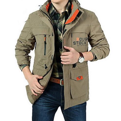 Men's Hiking Softshell Jacket Outdoor Camo Thermal / Warm Waterproof Windproof B