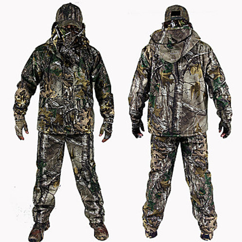 Men's Hunting Jacket with Pants Hunting Suit Camo / Camouflage Winter Outdoor Th