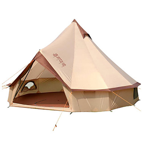 8 person Bell Tent Glamping Tent Outdoor Windproof Rain Waterproof Professional