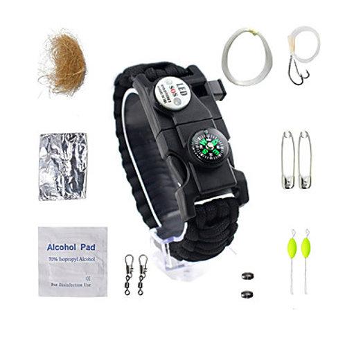 Paracord Bracelet Survival Bracelet Fire Starter Tactical Waterproof LED Nylon