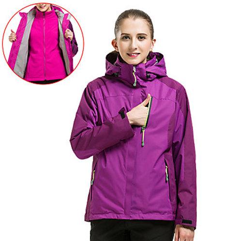 Women's Hiking 3-in-1 Jackets Hiking Jacket Hiking Windbreaker Winter Outdoor Th