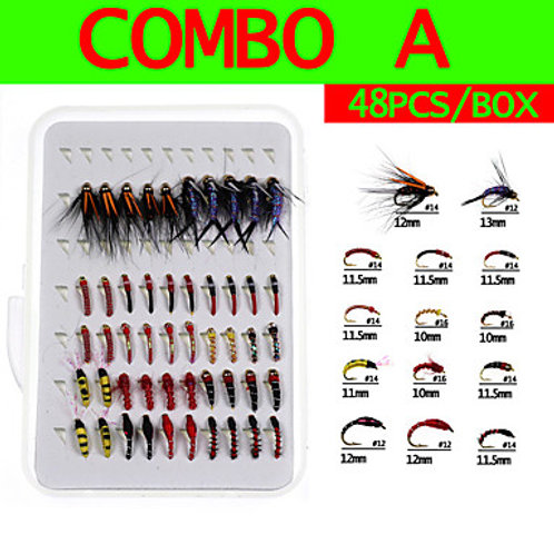 40 pcs Flies Lure kits Soft Bait Flies Sinking Bass Trout Pike Sea Fishing Fly F